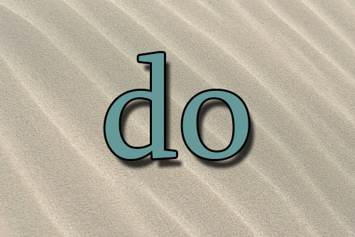 "Can you make do with ""do""?"