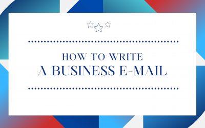 How to write a Business E-Mail